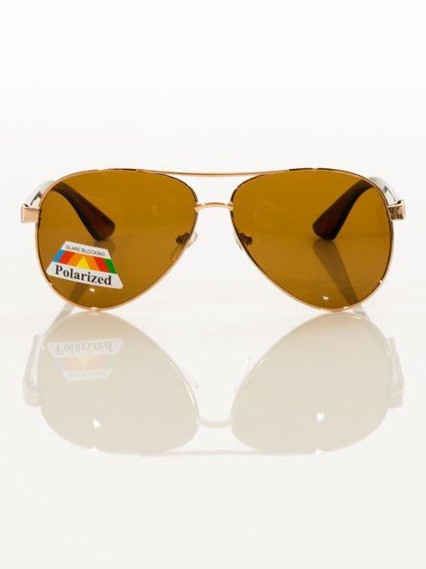 POLARYZACJA Złote okulary pilotki                                   zdj.                                  2