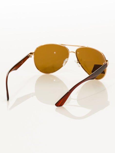 POLARYZACJA Złote okulary pilotki                                   zdj.                                  4