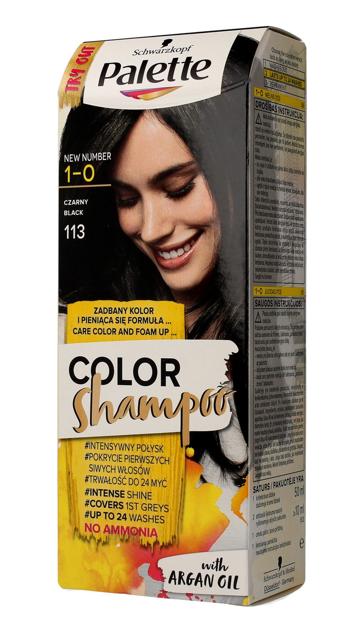 "Palette Color Shampoo Szampon koloryzujący  nr 1-0 (113) Czarny  1op."""