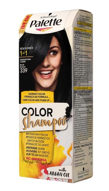 """Palette Color Shampoo Szampon koloryzujący  nr 1-1 (339) Granatowa Czerń  1op."""""""