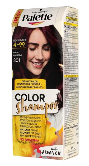 "Palette Color Shampoo Szampon koloryzujący  nr 4-99 (301) Bordo  1op."""