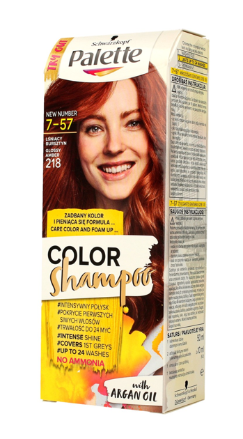 "Palette Color Shampoo Szampon koloryzujący  nr 7-57 Lśniący Bursztyn  1op."""