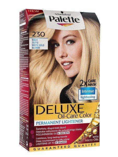 Palette Deluxe Farba do włosów permanentna nr 230 Białe Złoto