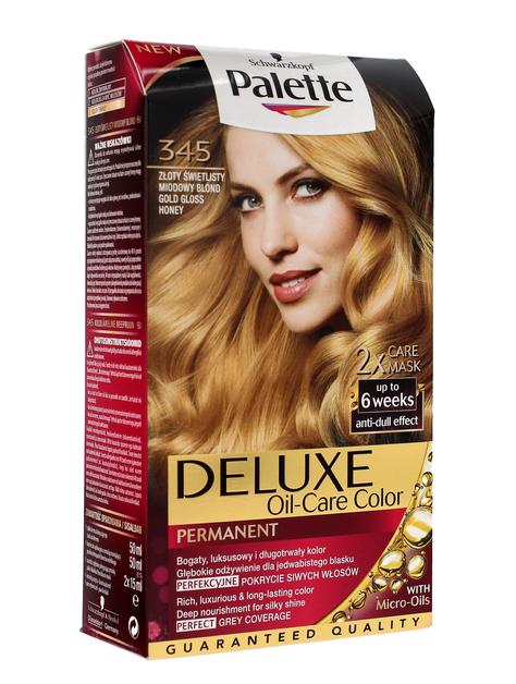 """Palette Deluxe Farba do włosów permanentna nr 345 Złoty Świetlisty Miodowy Blond  1op."""""""