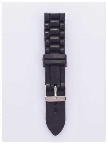Pasek silikonowy do zegarka 20 mm - czarny                                  zdj.                                  1