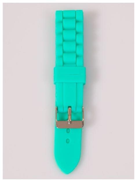 Pasek silikonowy do zegarka 20 mm - miętowy