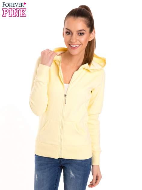 Pastelowo żółta bluza z kapturem                                  zdj.                                  1