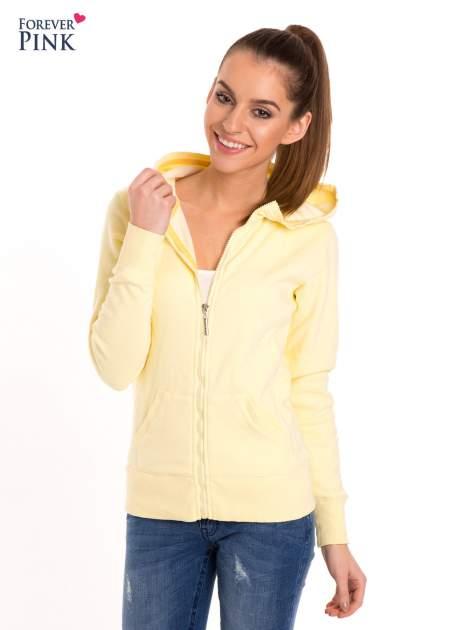 Pastelowo żółta bluza z kapturem                                  zdj.                                  4