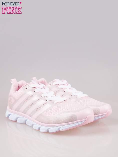 Pasteloworóżowe buty sportowe textile Lovegame z elastyczną podeszwą                                  zdj.                                  2