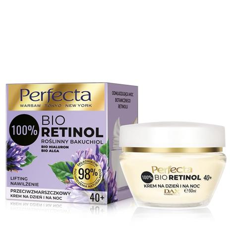 """Perfecta 100% Bio Retinol 40+ Przeciwzmarszczkowy Krem na dzień i noc - nawilżenie i lifting 50ml"""""""