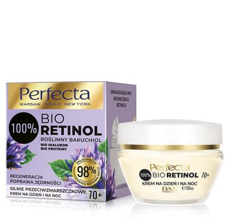"""Perfecta 100% Bio Retinol 70+ Silnie Przeciwzmarszczkowy Krem na dzień i noc - regeneracja,poprawa jędrności 50ml"""""""