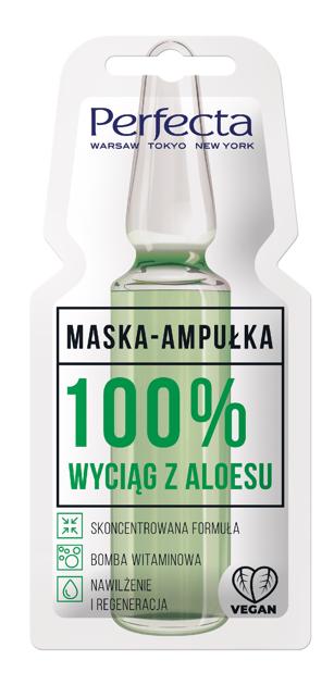 "Perfecta Maska - Ampułka 100% wyciąg z Aloesu  8ml"""