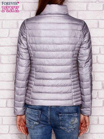 Pikowana kurtka przejściowa szara