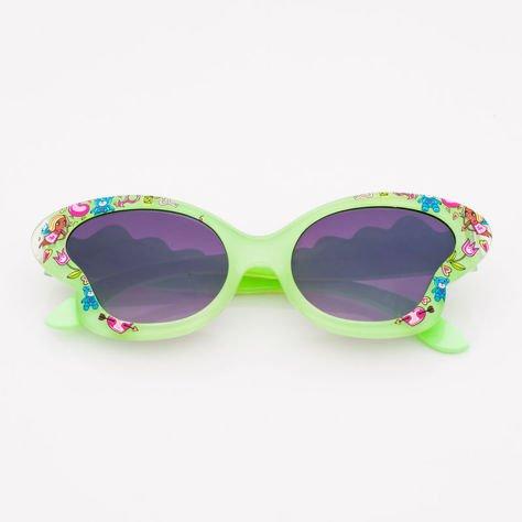 Pistacjowe Dziecięce Okulary przeciwsłoneczne MOTYL                              zdj.                              1
