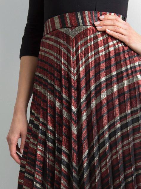 Plisowana spódnica z błyszczącą nitką                               zdj.                              5