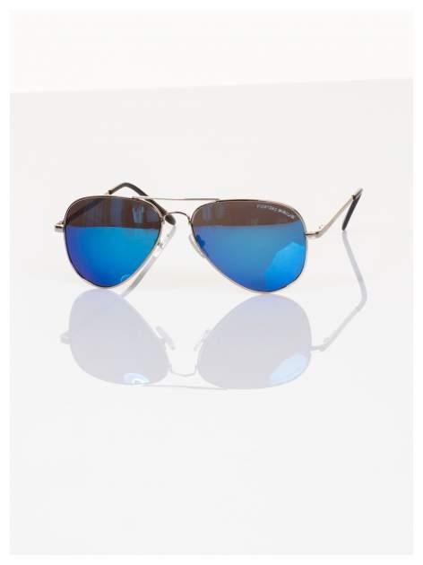 Policyjne niebieskie okulary pilotki lustrzanki dla kierowcy POLARYZACJA+GRATISY                                  zdj.                                  2