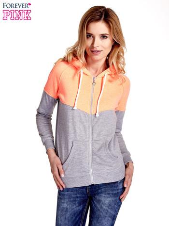 Pomarańczowa bluza z szarym pasem                                  zdj.                                  5
