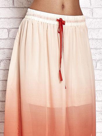 Pomarańczowa długa spódnica maxi z efektem ombre                                  zdj.                                  4