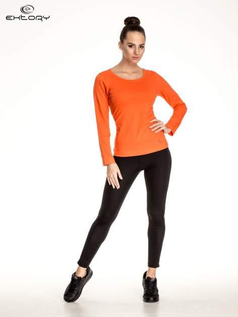 Pomarańczowa gładka bluzka sportowa z dekoltem U PLUS SIZE                                  zdj.                                  5