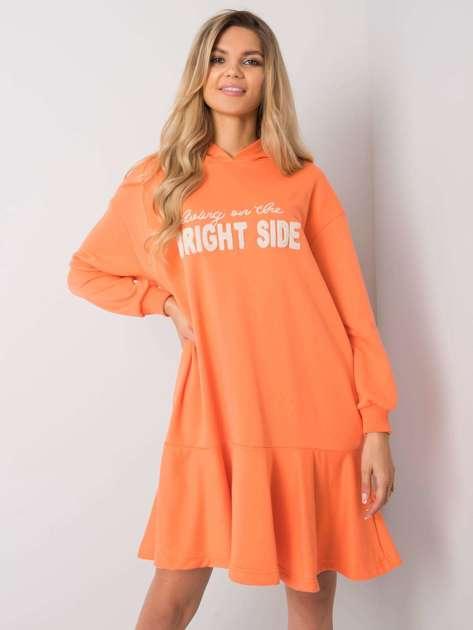 Pomarańczowa sukienka dresowa Sherine