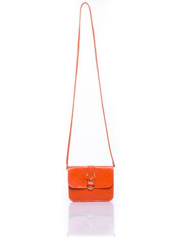 Pomaranczowa torebka listonoszka z klapką                                  zdj.                                  4