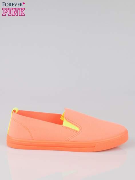 Pomarańczowe buty slip on