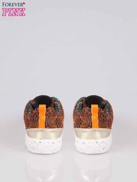 Pomarańczowe buty sportowe dual material Level Up z tweedu                                  zdj.                                  3