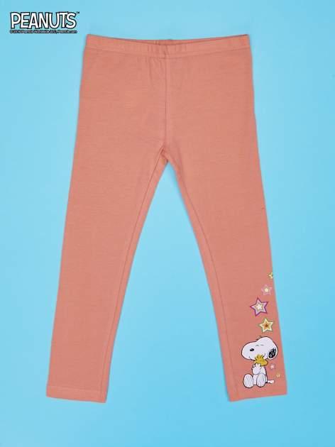 Pomarańczowe legginsy dla dziewczynki SNOOPY                                  zdj.                                  1