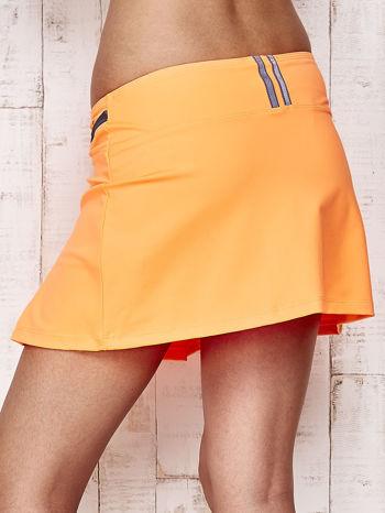 Pomarańczowe spodenki spódniczka tenisowa z szarymi wstawkami                                  zdj.                                  6