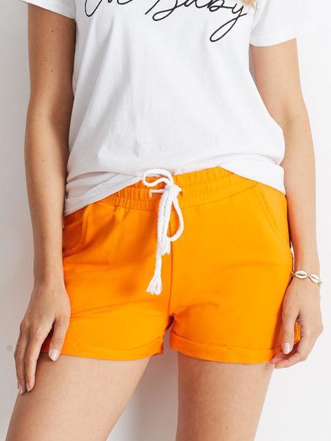 Pomarańczowe szorty Rejuvenate                              zdj.                              1