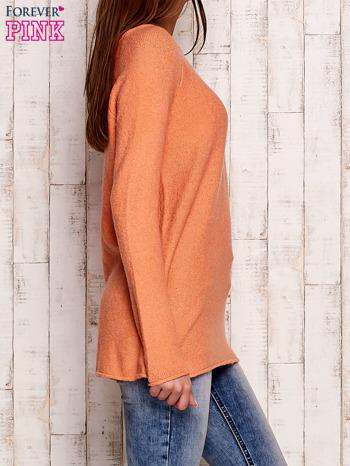 Pomarańczowy dzianinowy sweter                                   zdj.                                  3