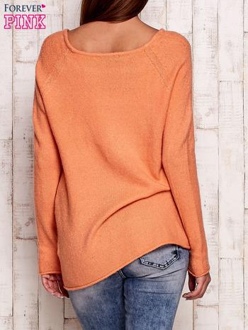 Pomarańczowy dzianinowy sweter                                   zdj.                                  4