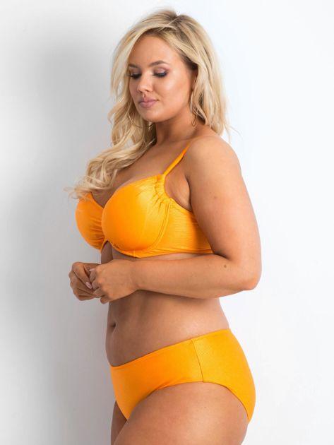 Pomarańczowy kostium kąpielowy plus size Brillance                              zdj.                              3