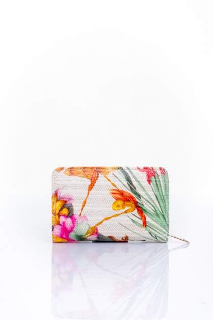 Pomarańczowy portfel z kwiatowym nadrukiem                                  zdj.                                  2
