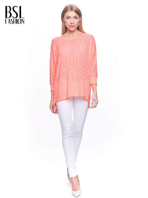 Pomarańczowy sweter z rozcięciem na plecach                                  zdj.                                  2