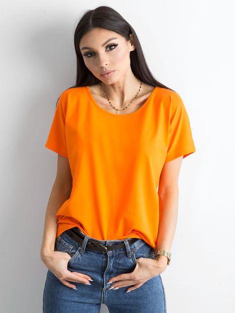 Pomarańczowy t-shirt Flow                              zdj.                              5