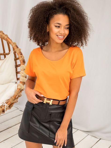 Pomarańczowy t-shirt Flow                              zdj.                              2