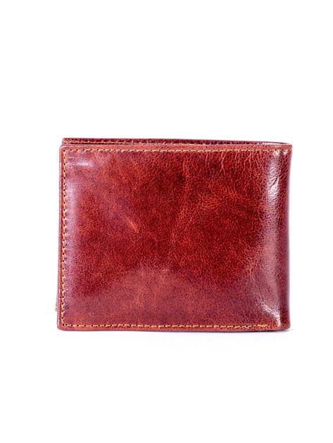 Portfel ze skóry naturalnej brązowy z tłoczeniem                              zdj.                              2