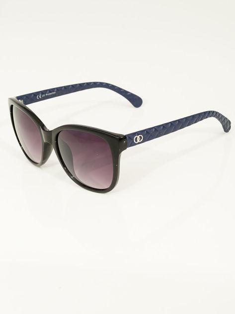 Przeciwsłoneczne okulary damskie z granatowymi zausznikami                              zdj.                              3