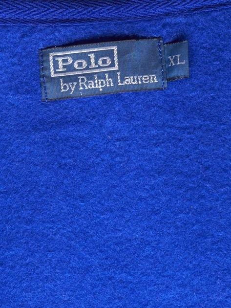 RALPH LAUREN Kobaltowa ocieplana bluza męska z kapturem                              zdj.                              7