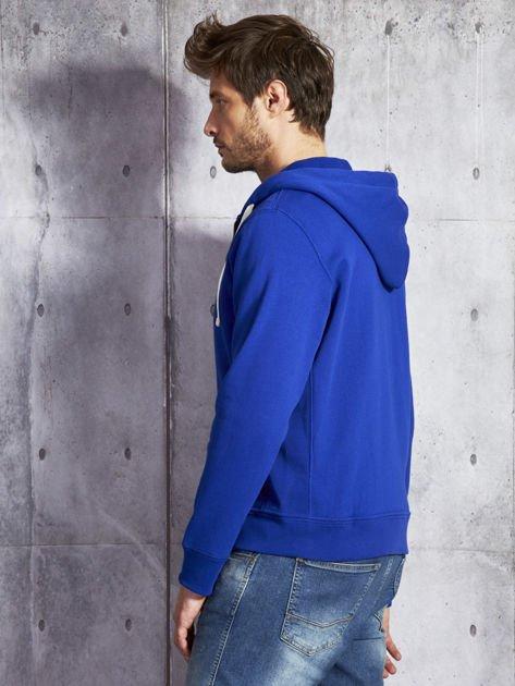 RALPH LAUREN Kobaltowa ocieplana bluza męska z kapturem                              zdj.                              6