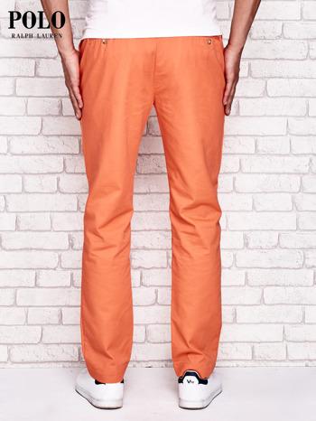 RALPH LAUREN Pomarańczowe spodnie męskie