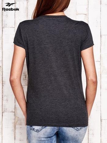 REEBOK Ciemnoszary t-shirt z nadrukiem arbuza                                  zdj.                                  2
