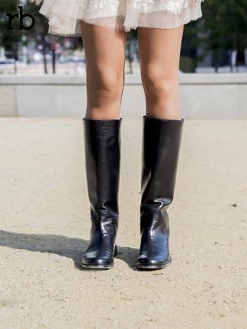 ROCCOBAROCCO czarne skórzane oficerki grain leather z suwakiem z tyłu                                  zdj.                                  3