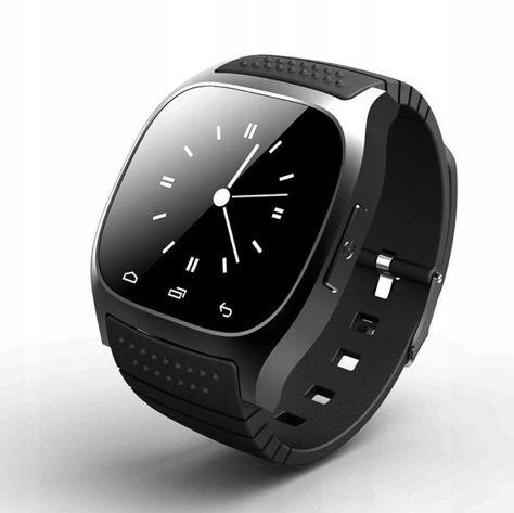 RONEBERG Smartwatch RM26 Współpracuje z Android oraz iOS Powiadomienia Połączenia Krokomierz Monitor snu Czarny                              zdj.                              1