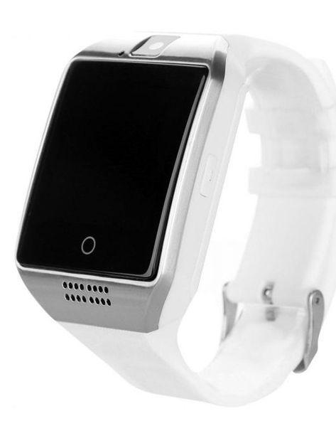 RONEBERG Smartwatch RQ18 Współpracuje z Android oraz iOS Powiadomienia Kamera Połączenia Krokomierz Biały                              zdj.                              1