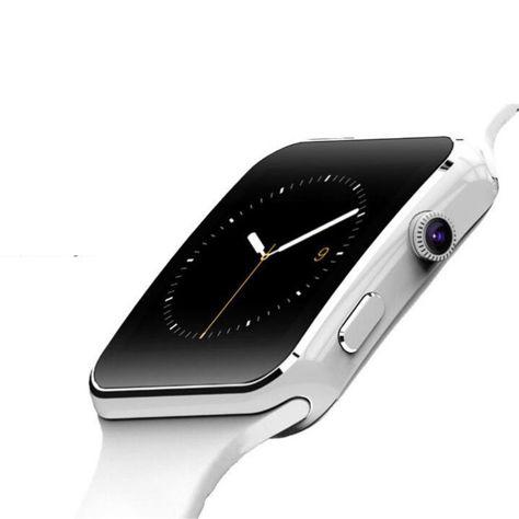 RONEBERG Smartwatch RX6 Współpracuje z Android oraz iOS Powiadomienia Połączenia Krokomierz Monitor snu Biały                              zdj.                              2