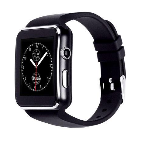 RONEBERG Smartwatch RX6 Współpracuje z Android oraz iOS Powiadomienia Połączenia Krokomierz Monitor snu Czarny                              zdj.                              1