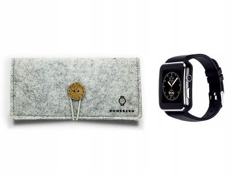RONEBERG Smartwatch RX6 Współpracuje z Android oraz iOS Powiadomienia Połączenia Krokomierz Monitor snu Czarny                              zdj.                              5