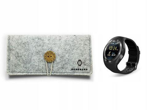 RONEBERG Smartwatch RY1B Współpracuje z Android oraz iOS Powiadomienia Połączenia Krokomierz Czarny                              zdj.                              3